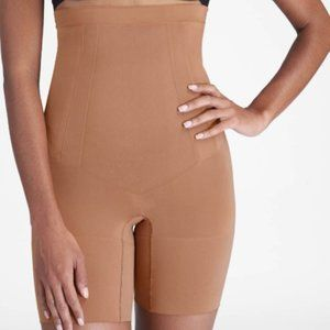 COPY - SPANX High Waist Nude Short Mid Thigh Size…